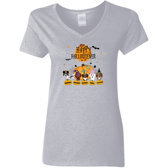 Show Hallowieners Ladies' V-Neck T-Shirt