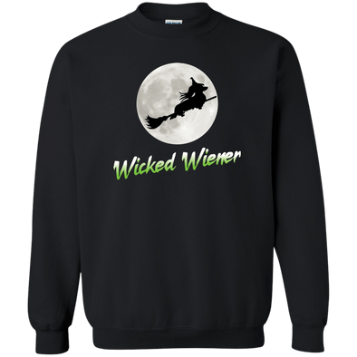 Flying Wicked Wiener (Lime lettering) Crewneck Pullover Sweatshirt  8 oz.