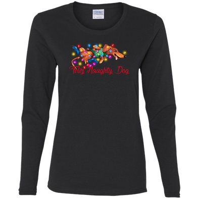 Feliz Naughty Dog Ladies' Cotton LS T-Shirt