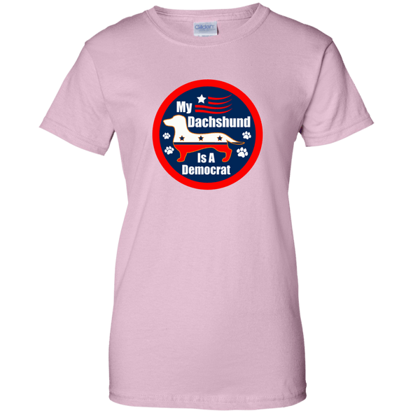 My Dachshund Is A Democrat Ladies'100% Cotton T-Shirt