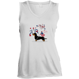 Patriotic Wirehair B&T Ladies' Sleeveless Moisture Absorbing V-Neck