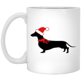 Black Silhouette Santa Doxie 11 oz. Ceramic Mug