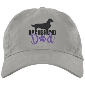 Dachshund Dad Longhair (Blue) Embroidered Brushed Twill Unstructured Dad Cap