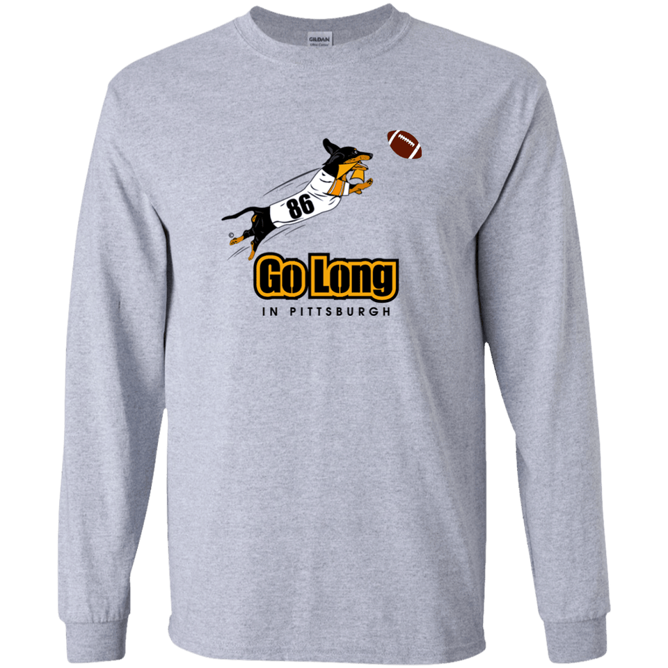 Go Long in Pittsburgh LS Ultra Cotton T-Shirt