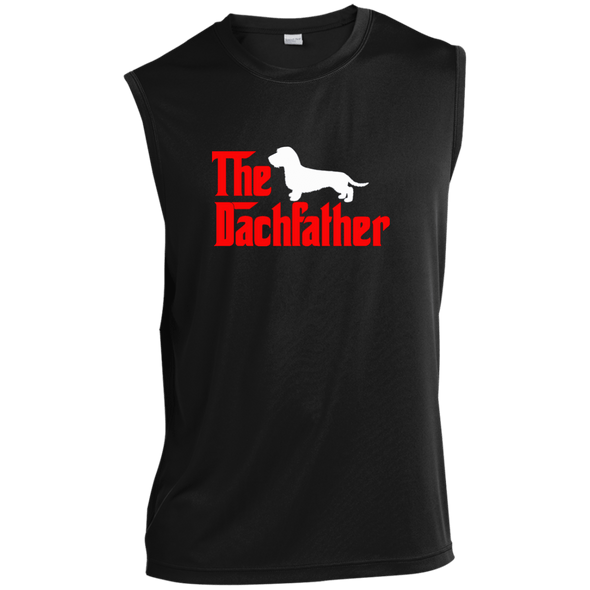 The Dachfather (WH) Sleeveless Moisture-Wicking T-Shirt