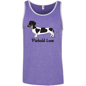 Piebald Love (Black) 100% Ringspun Cotton Tank