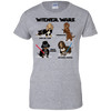 Wiener Wars Cast Ladies' 100% Cotton T-Shirt
