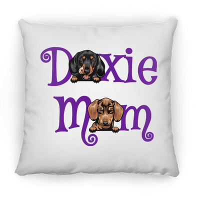 Doxie Mom (2 Dogs) Decorative Throw Pillow 16x16