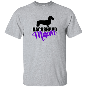 Dachshund Mom Shorthair (Purple) Unisex Ultra Cotton T-Shirt
