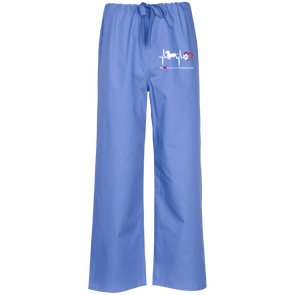My Heart Beats For Dachshunds Embroidered Scrub Pants