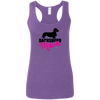 Dachshund Mom Wirehair (Pink) Ladies' Softstyle Racerback Tank