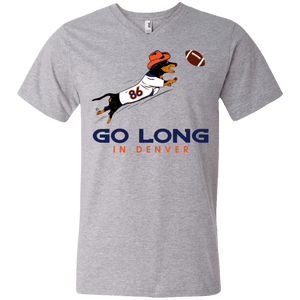 Go Long Denver Men's 100% Preshrunk Cotton V-Neck T-Shirt