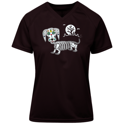 Mr. Bones Sugar Skull Ladies' Holloway Zoom Shirt