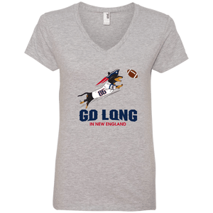 Go Long in New England Ladies' V-Neck T-Shirt