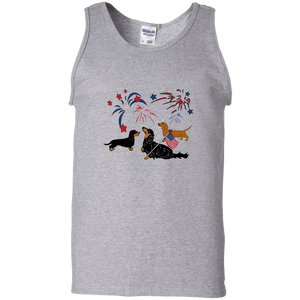 Patriotic Dachshunds 100% Cotton Tank Top