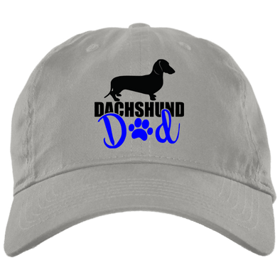 Dachshund Dad Shorthair (Blue) Embroidered Brushed Twill Unstructured Dad Cap