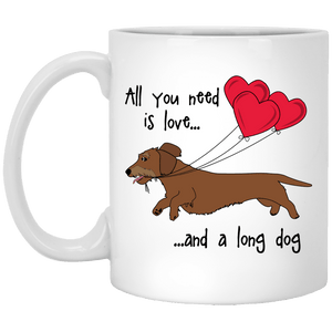 All You Need Is Love WH (Red) 11 oz. Ceramic Mug