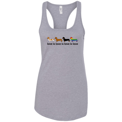 Love Is Love Ladies' Racerback Tank