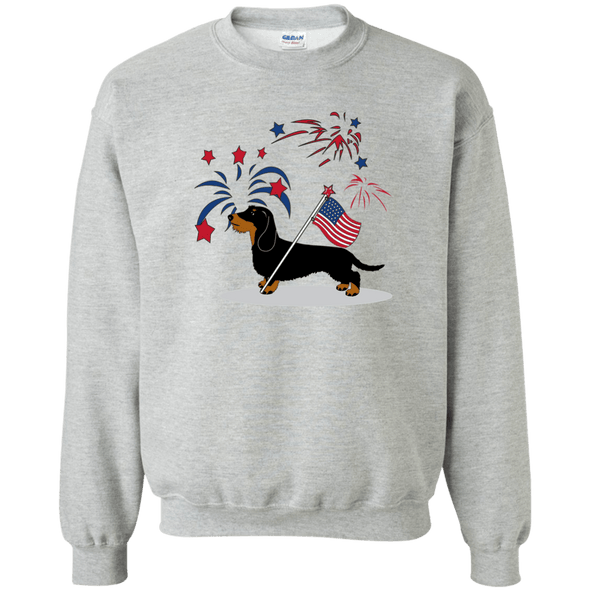 Patriotic Wirehair B&T Crewneck 50/50 Pullover Sweatshirt  8 oz