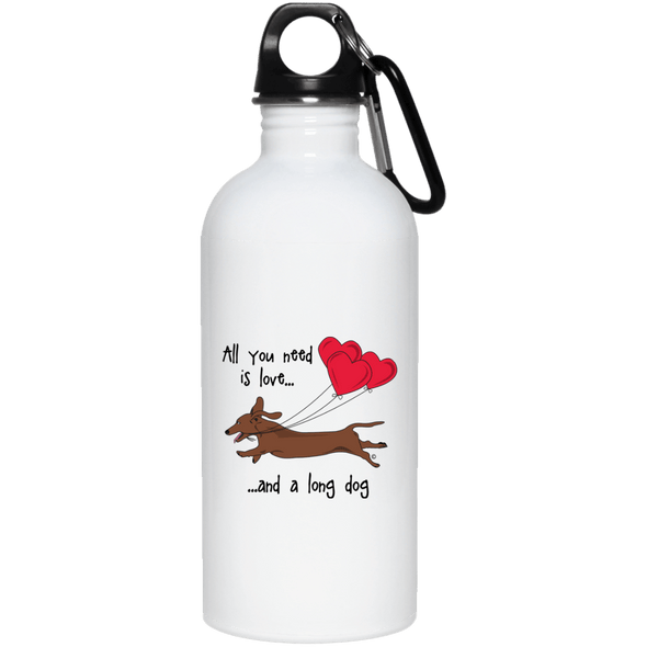 All You Need Is Love SH (Red) 20 oz. Stainless Steel Water Bottle