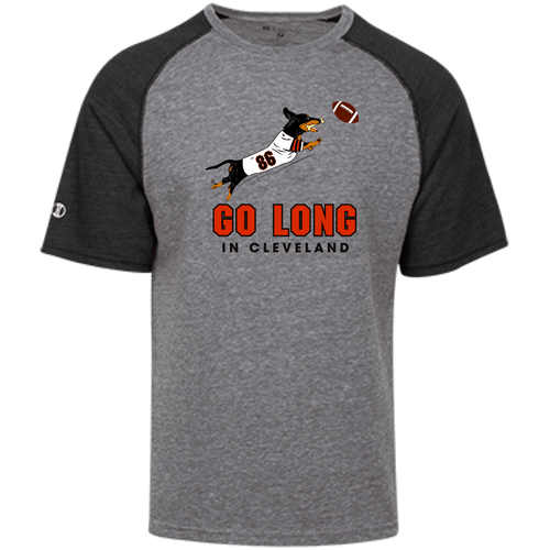Go Long in Cleveland Unisex Tri-blend Heathered Shirt