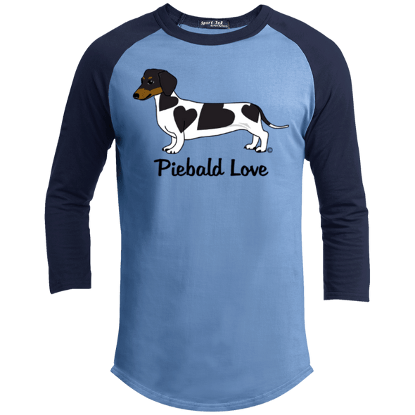Piebald Love (Black) 100% Cotton Baseball Shirt