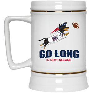 Go Long in New England Beer Stein 22oz.