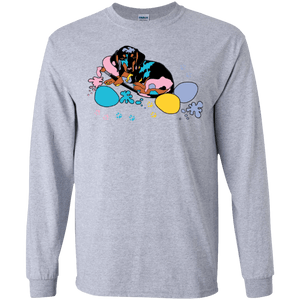 Easter Dachshund LS Ultra Cotton Tshirt