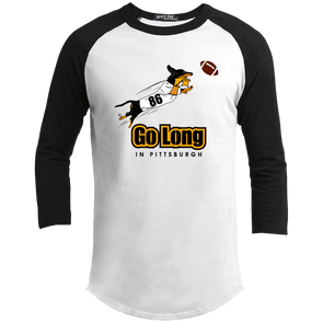 Go Long in Pittsburgh 100% Cotton Baseball Shirt