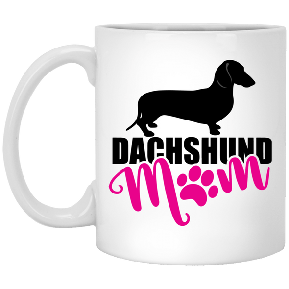 Dachshund Mom Shorthair (pink) 11 oz. Ceramic Mug