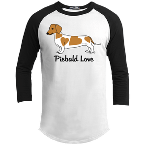 Piebald Love (Red) 100% Cotton Baseball Shirt