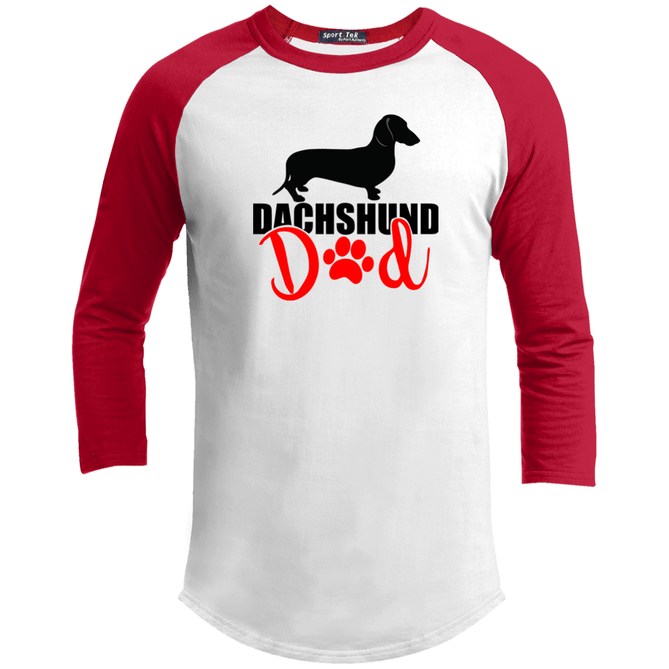 Dachshund Dad Shorthair (Red) Baseball Jersey