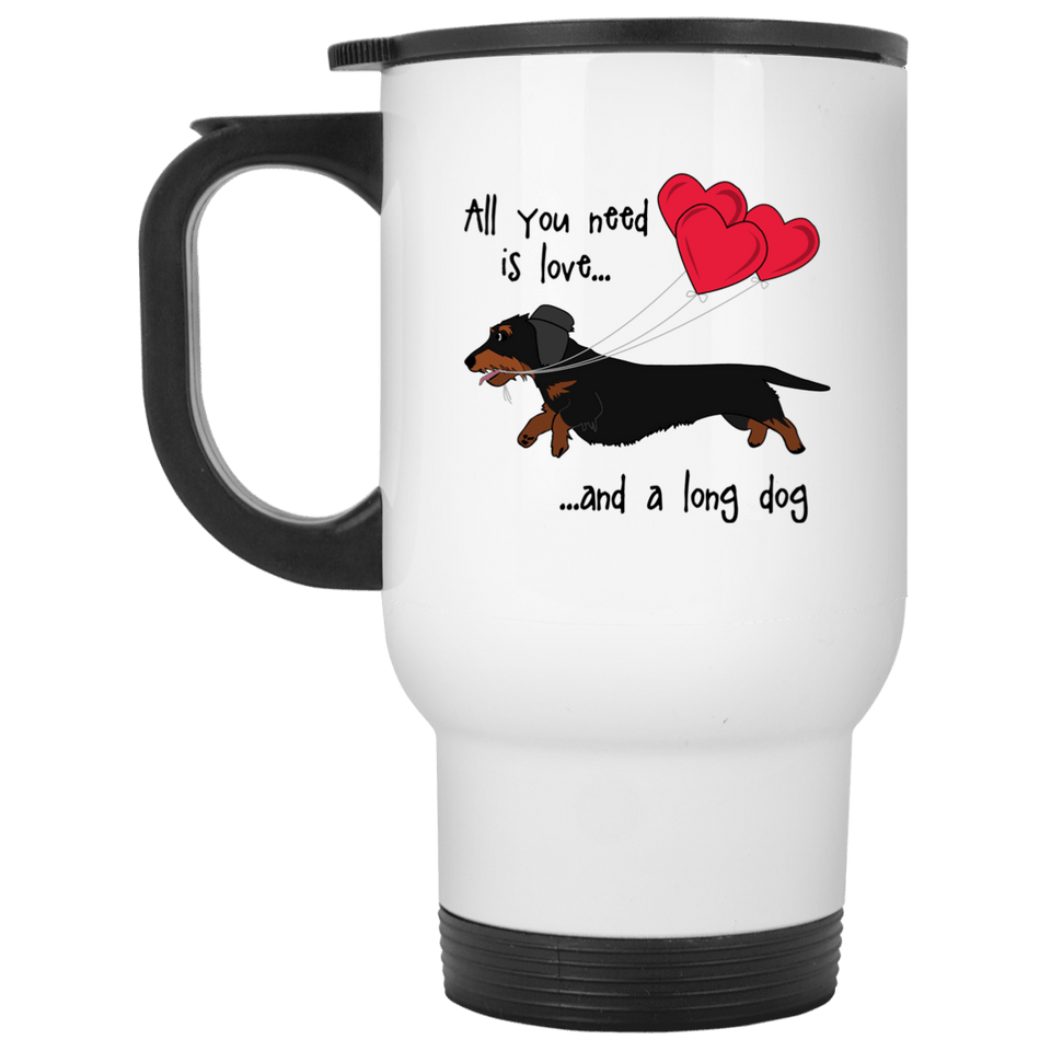 All You Need Is Love WH (B&T) 14 oz Stainless Steel Travel Mug