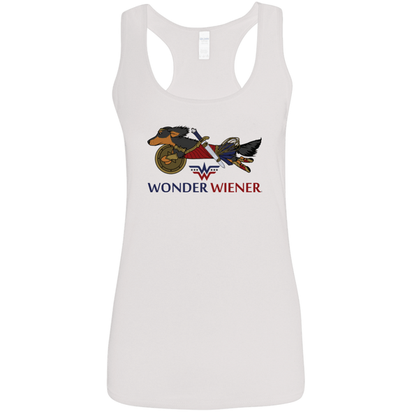 Wonder Wiener Ladies' Softstyle Racerback Tank