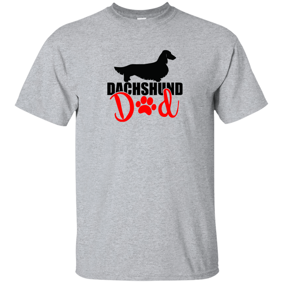 Dachshund Dad Longhair (Red) Ultra Cotton T-Shirt