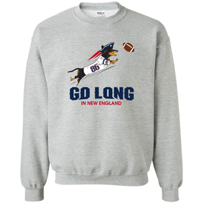 Go Long in New England Crewneck Pullover Sweatshirt