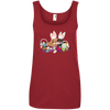 Easter Dachshunds Ladies' 100% Ringspun Cotton Tank Top