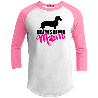 Dachshund Mom Shorthair (Pink) 100% Cotton Baseball Jersey