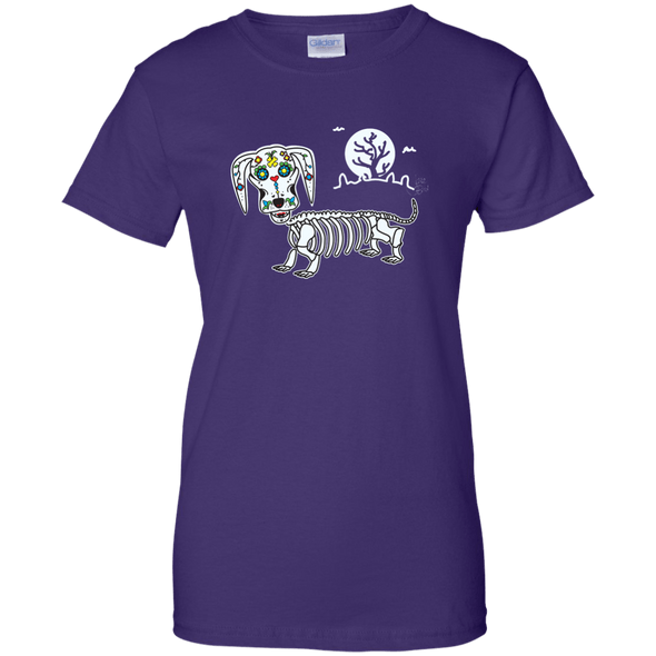 Mr. Bones Sugar Skull Ladies' 100% Cotton T-Shirt