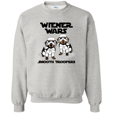 Wiener Wars Smooth Troopers 50/50 Crewneck Pullover Sweatshirt