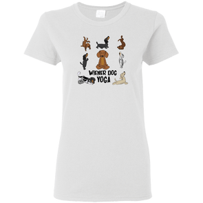 Wiener Dog Yoga Ladies' T-Shirt