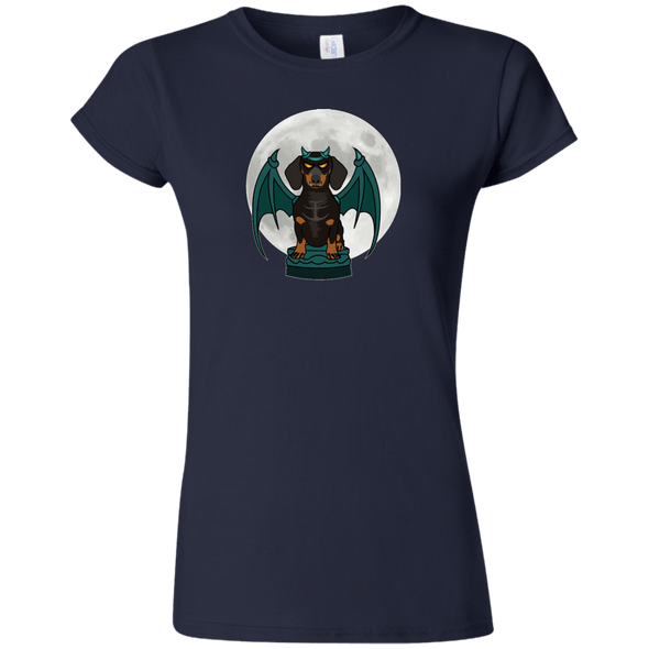 Gargoyle Wiener Dog Softstyle Ladies' T-Shirt