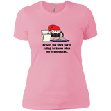 Santa Snacks Next Level Ladies' Boyfriend Tee