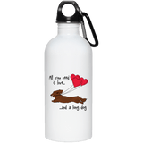All You Need Is Love LH (Red) 20 oz. Stainless Steel Water Bottle