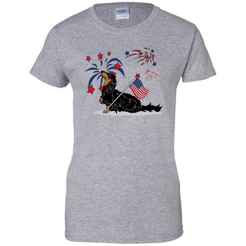 Patriotic Longhair B&T Ladies' 100% Cotton T-Shirt