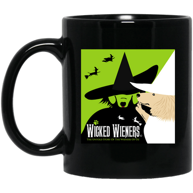 Wicked Wieners 11 oz. Black Ceramic Mug
