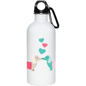 Kissing Doxies 20 oz. Stainless Steel Water Bottle