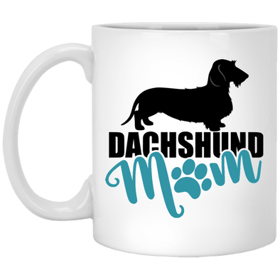 Dachshund Mom Wirehair (teal) 11 oz. Ceramic Mug