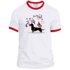 Patriotic Wirehair B&T Ringer T-Shirt