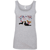 Patriotic Dachshunds Ladies' 100% Ringspun Cotton Tank Top
